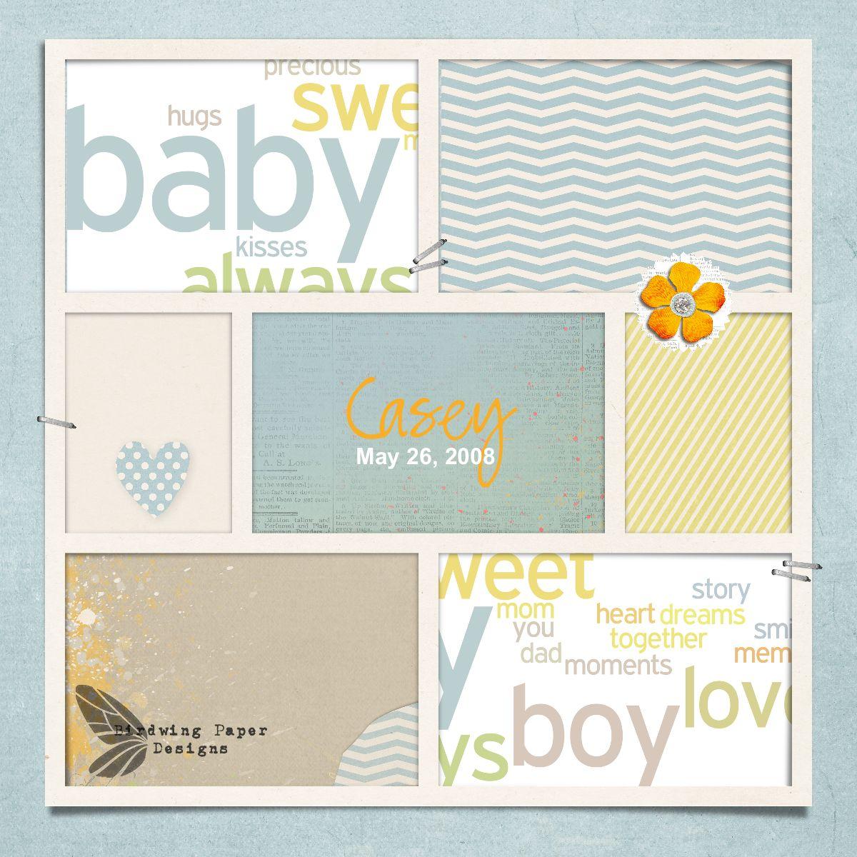 Baby Photobook Cover Ideas : Babies birdwing paper designs