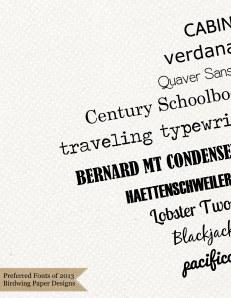 2013 Top 10 Fonts