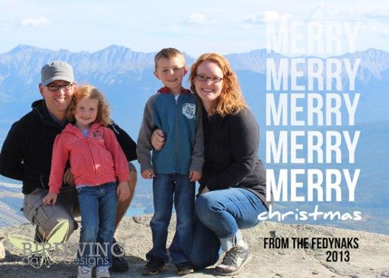 """Merry Merry 7"""" x 5"""""""