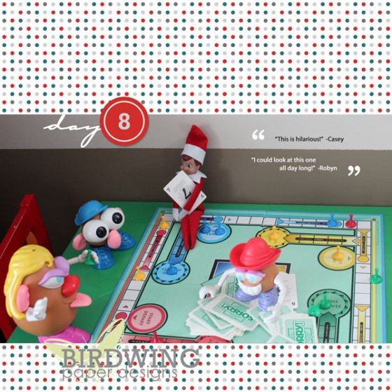 12 Days of Elf on the Shelf Photobook - Birdwing Paper Designs
