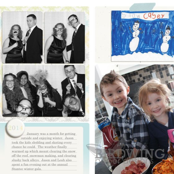 2014 Family Photo Book - Birdwing Paper Designs