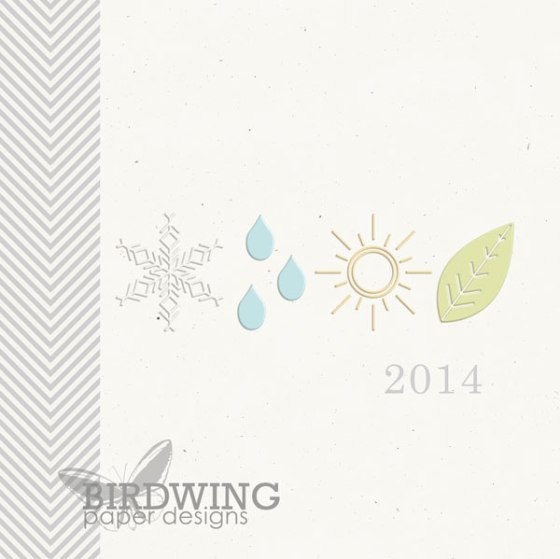 2014 Family Photo Book Cover - Birdwing Paper Designs