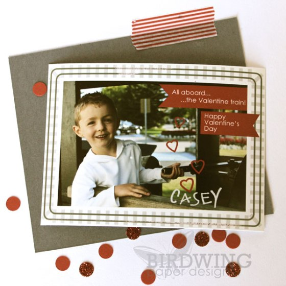 Valentine Photocards - Birdwing Paper Designs