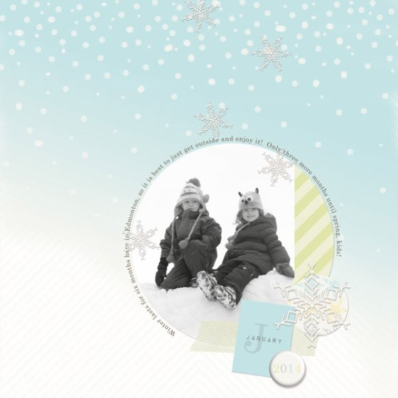 "Leah Fedynak - digital elements from ""Hello 2014 - Winter Edition"" by Birdwing Paper Designs"
