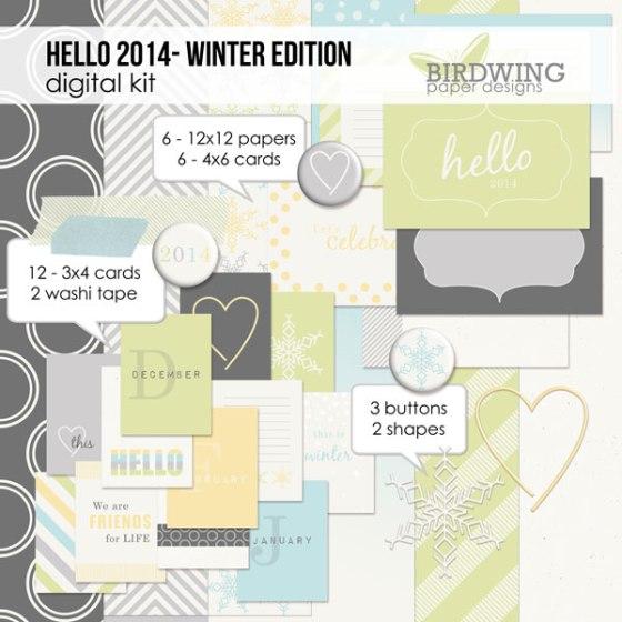 Hello 2014 - Winter Edition by Birdwing Paper Designs