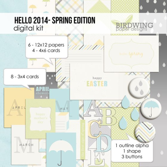 Hello 2014 - Spring Edition - Birdwing Paper Designs