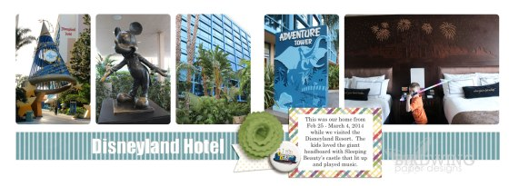 Magical Vacation Page - Birdwing Paper Designs