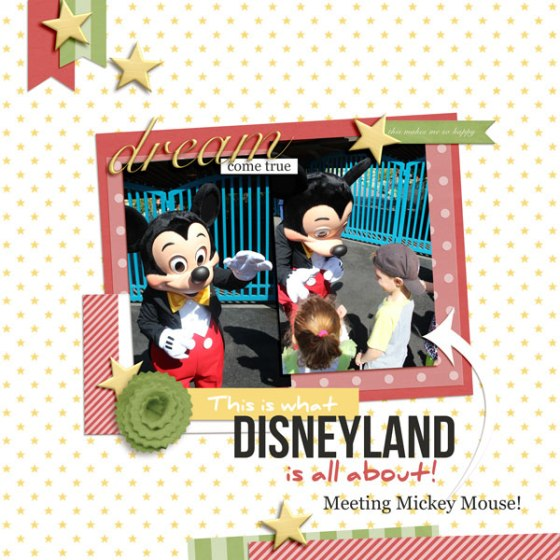 Meeting Mickey Mouse - Magical Vacation digital kit from Birdwing Paper Designs