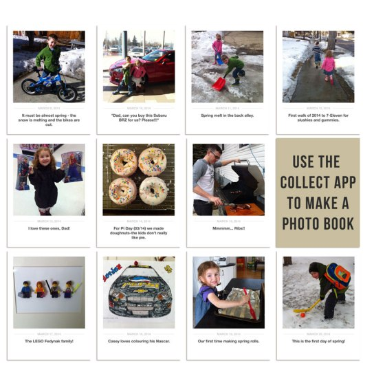 Use the Collect App to make a photo book - Birdwing Paper Designs