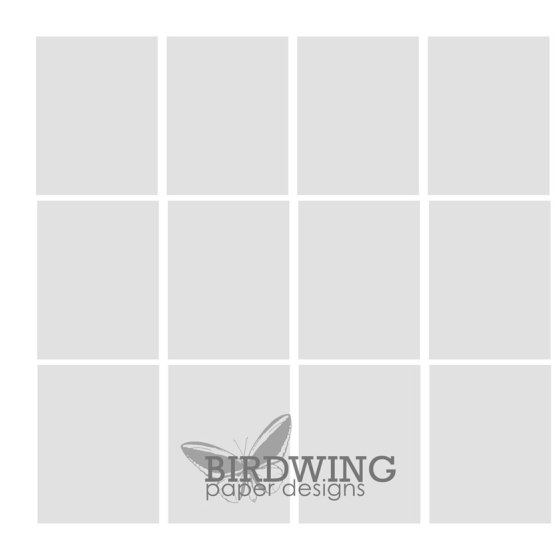 Photo book page template - Birdwing Paper Designs