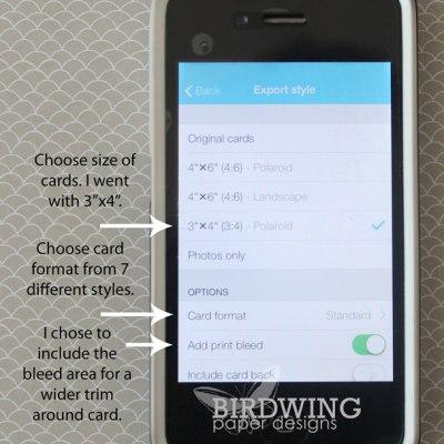 Export Your Collect App Cards - Birdwing Paper Designs