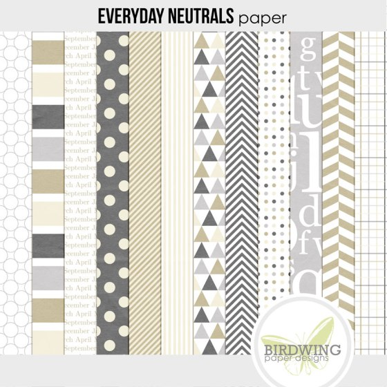 Everyday Neutrals - Birdwing Paper Designs