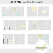 Hello 2014 Templates July-Dec - Birdwing Paper Designs