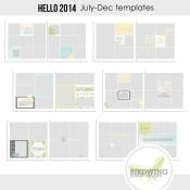 Hello 2014 Templates July-Dec - Birdwing Paper Designs