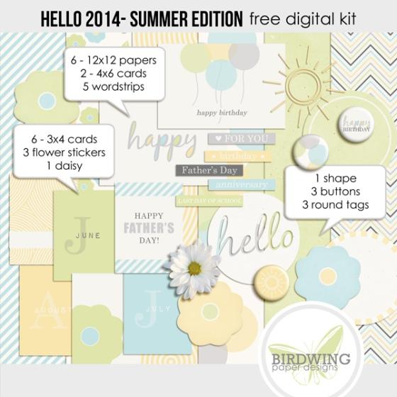 Hello 2014 Summer Edition - Birdwing Paper Designs