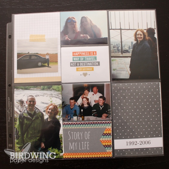 Happiness Is - Project Life album from Birdwing Paper Designs