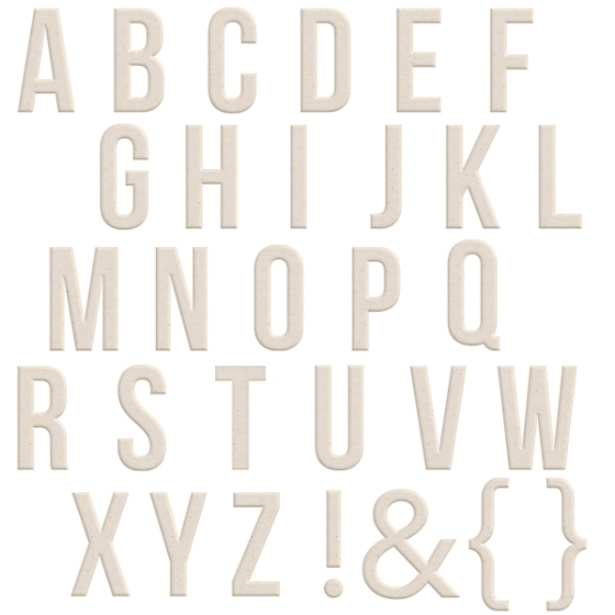Chipboard alphabet from the Fall Edition of Hello 2014 by Birdwing Paper Designs
