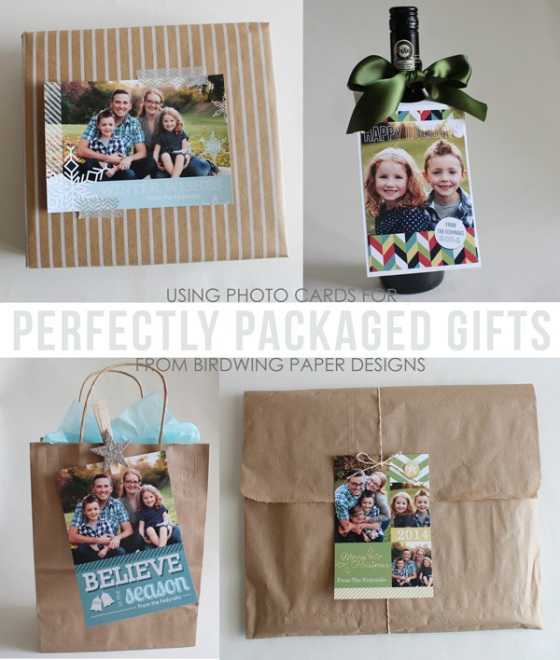 Perfectly packaged gifts using Photo Cards - from Birdwing Paper Designs
