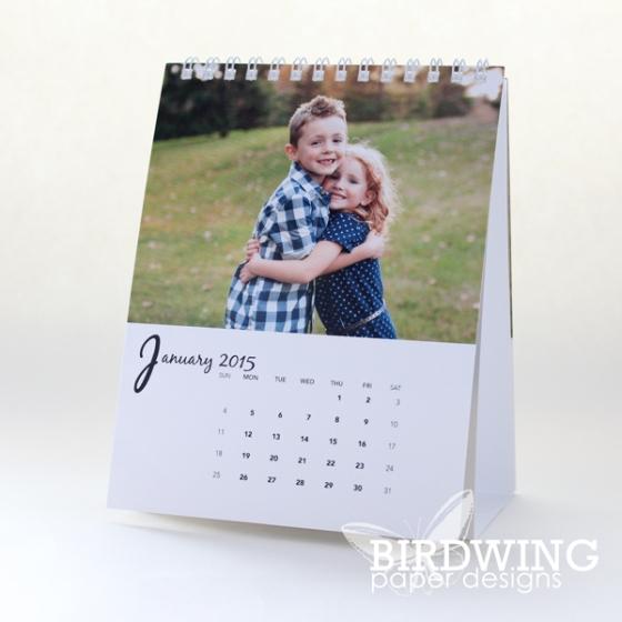 Desktop calendar printed by Ookpix - Birdwing Paper Designs