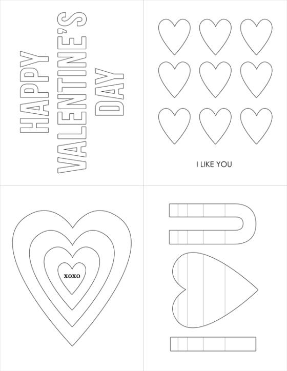Free Printable Valentine Cards - Birdwing Paper Designs