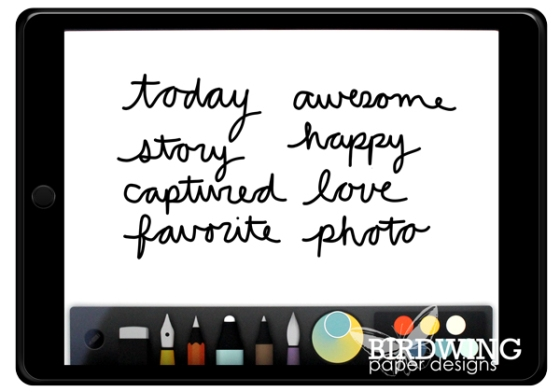 DIY Handwritten Digital Elements - Birdwing Paper Designs
