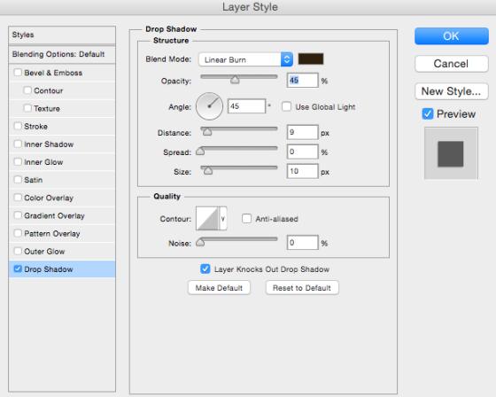 Drop Shadow Styles - Birdwing Paper Designs