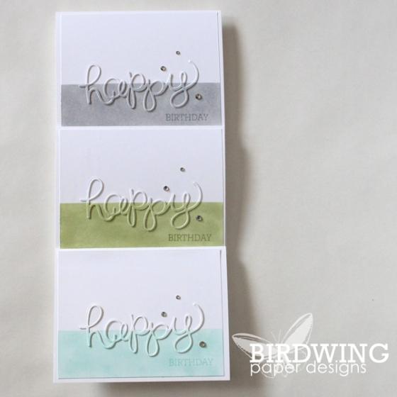 A Happy Birthday Card - Birdwing Paper Designs