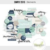 Simply 2015 Elements - Birdwing Paper Designs
