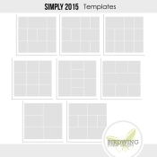 Simply 2015 Templates - Birdwing Paper Designs