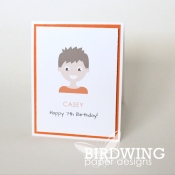 Quick Kids Cards Using Free Custom Illustrations - Birdwing Paper Designs