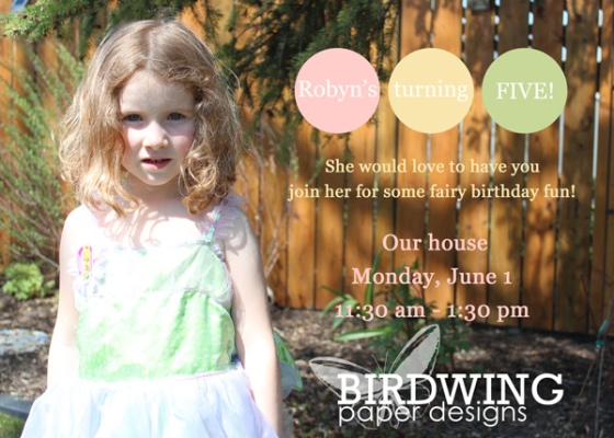 Birthday Invitations - Birdwing Paper Designs