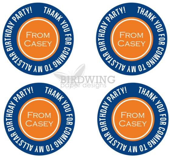 Oilers Birthday Tags - Birdwing Paper Designs