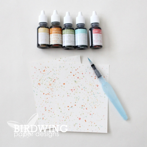 Ink Splattered Cards - Birdwing Paper Designs