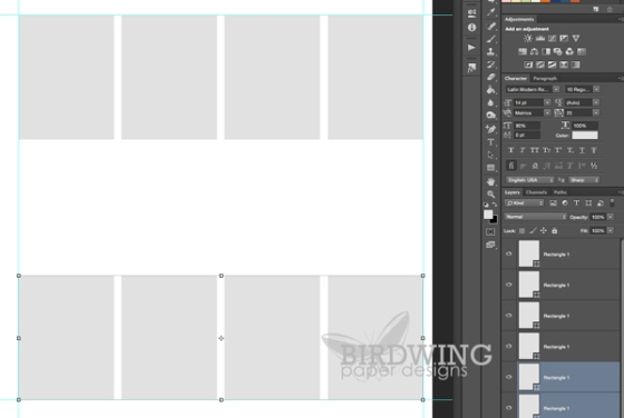 Making a Page Template in Photoshop - Birdwing Paper Designs