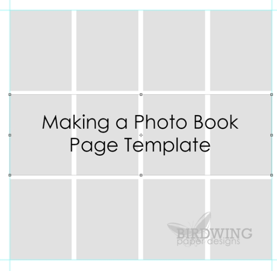 making a photo book page template in photoshop birdwing paper
