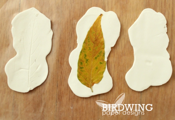 Leaf Imprint Card - Birdwing Paper Designs