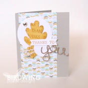 A Fall Inspired Thank You Card - Birdwing Paper Designs