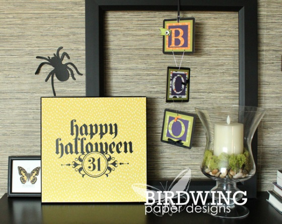 Halloween Home Decor - Birdwing Paper Designs