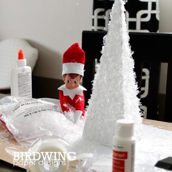 DIY Winter Tree Decor - Birdwing Paper Designs