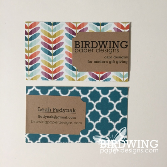 IDIY Business Cards - Birdwing Paper Designs