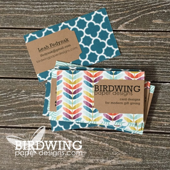 DIY Business Cards - Birdwing Paper Designs