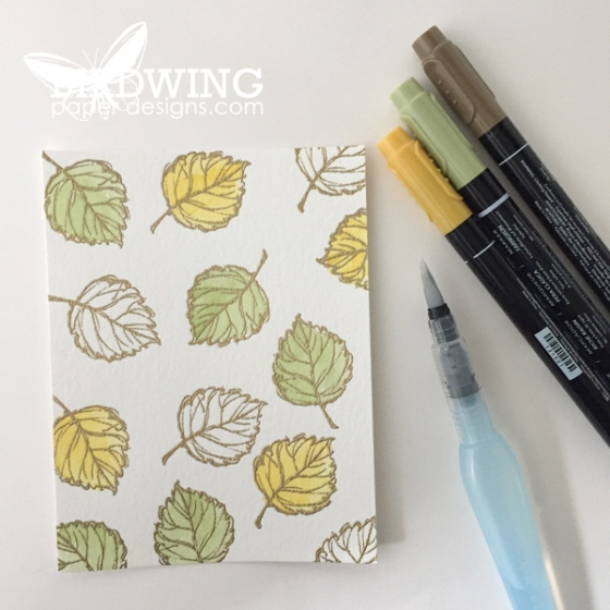Gold Emboss with Watercolour - Birdwing Paper Designs