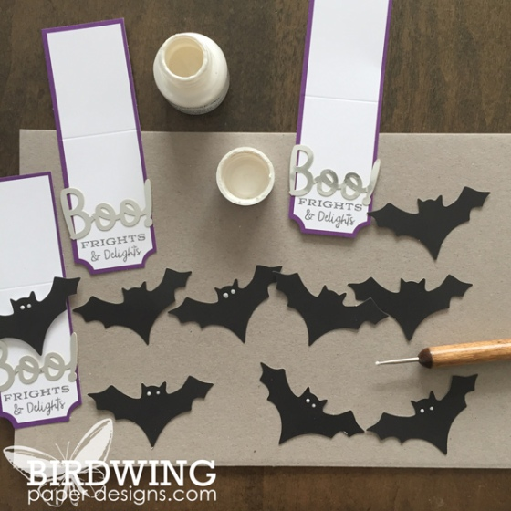 Paper Pumpkin Halloween Treat Bags - Birdwing Paper Designs