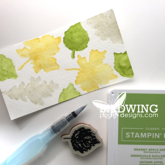 Two Step Watercolour Stamping - Birdwing Paper Designs