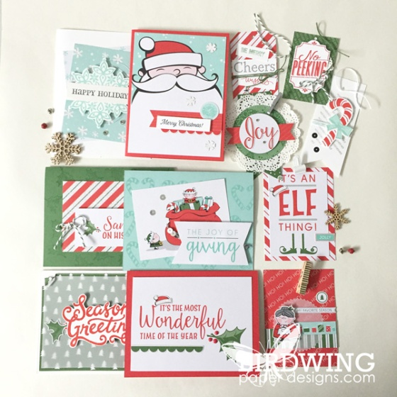 Santa's Workshop Cards and Tags - Birdwing Paper Designs