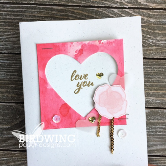 Watercolour Hearts-2 Ways - Birdwing Paper Designs