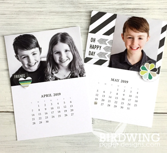 2019 Calendar Part 2 - Birdwing Paper Designs
