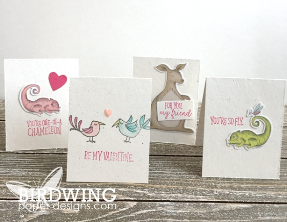 Kids Valentine's Day Cards - Birdwing Paper Designs