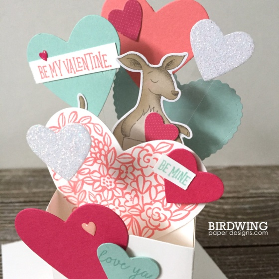 Valentine's Box Card - Birdwing Paper Designs