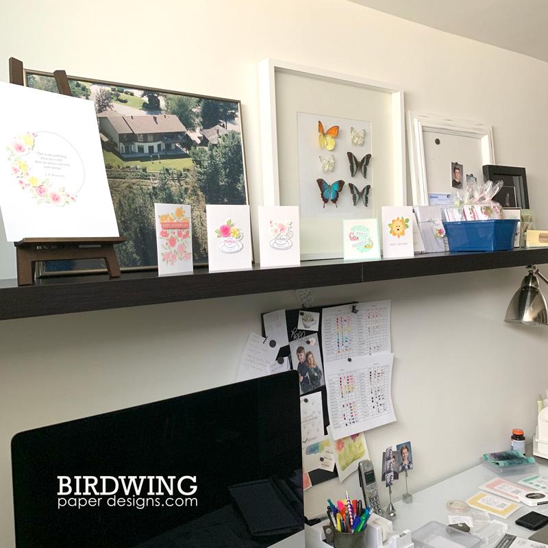 A Craft Room Tour - Birdwing Paper Designs